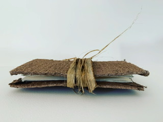 Botanical paper single stitch book with cocoa palm string