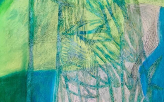 'Petra' mixed media on Arches paper. Touch and Tender Artist in Residence project. 2020
