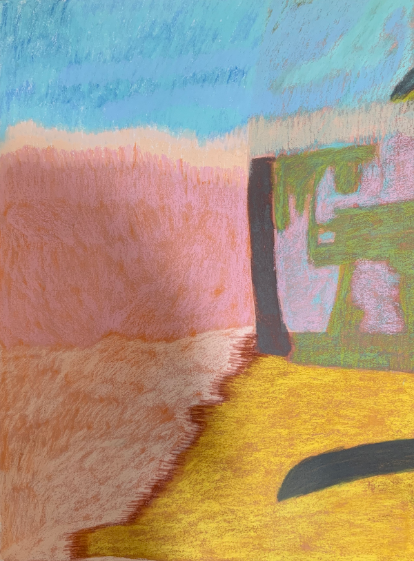 The Botanic Walk, Canoe Point. Tannum Sands. Pastel on Arches Paper. 2020